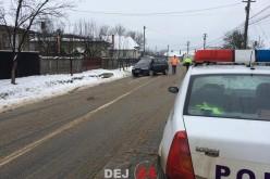 Accident în Mica. Bărbat, transportat la spitalul din Dej – FOTO