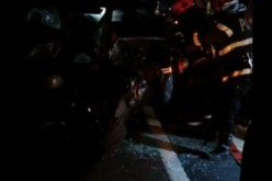 Accident în Uriu. Și-a făcut mașina PRAF după ce s-a izbit de parapeți – VIDEO