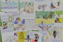 Calendar literar pe anul 2016, realizat de elevi ai CNAMD Dej