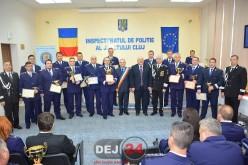 Polițiști merituoși din Dej, premiați la sediul IPJ Cluj – FOTO