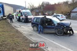 ACCIDENT la Bunești, soldat cu o victimă. IMPACT FRONTAL între un TIR și un autoturism – FOTO/VIDEO