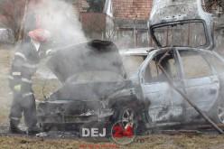 O mașină s-a făcut scrum, în municipiul Dej – FOTO/VIDEO