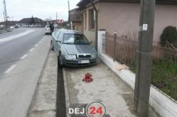 Accident rutier pe DN1C, la Iclod. O mașină a ajuns în decor – FOTO