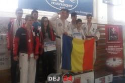 Patru sportivi din Dej, parte din lotul național al României la Taekwon-do, rezultate remarcabile în Slovacia – FOTO