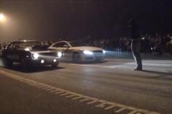 Cursă ilegală de mașini, în miez de noapte, la Gherla. Șoferii, identificați și trași la răspundere