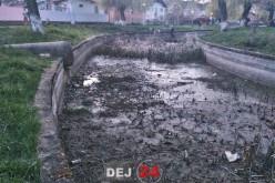 Dej | Lacul din cartierul Dealul Florilor, un loc jegos și dezolant. Primăria vrea REZILIEREA contractului! – FOTO