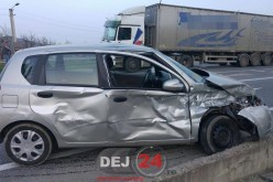 Accident în Bunești, pe DN1C. Un bărbat din Dej, transportat la spital – FOTO/VIDEO