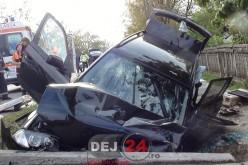 ACCIDENT la Cășeiu. Doi cetățeni moldoveni, care se întorceau acasă, au fost răniți – FOTO/VIDEO