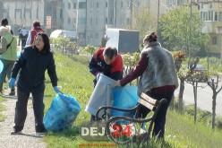 Acțiune de ecologizare în Dej. Au participat angajați ai Primăriei și elevi – FOTO/VIDEO