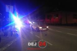 ACCIDENT la Gherla. Biciclist BEAT, acroșat de un autoturism – FOTO/VIDEO