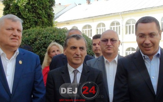 Victor Ponta a venit la Dej și le-a urat succes social-democraților – FOTO/VIDEO