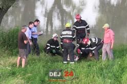 DEJ | Bărbat căzut în Someș, la un pas de tragedie – FOTO/VIDEO