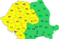 CODUL GALBEN de ploi a fost prelungit și pentru județul Cluj