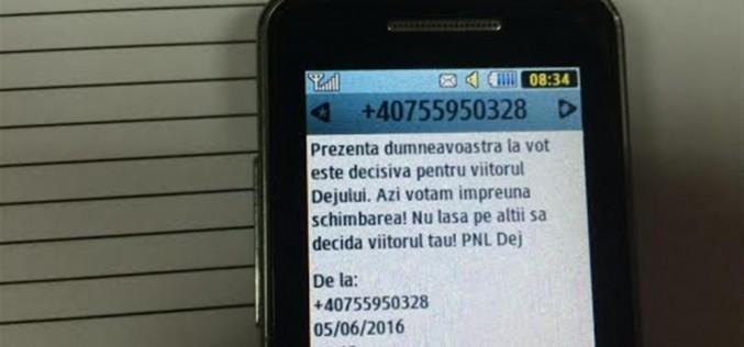 ALEGERI LOCALE DEJ 2016. Primul incident electoral – SMS-uri care îndeamnă la vot – FOTO
