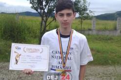 """""""RECIDIVIST"""" – Tânărul atlet Octav Tarța aduce din nou AURUL la Dej – FOTO"""