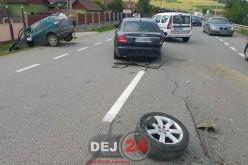 Accident pe DN1C, în Bunești. Un autovehicul a ajuns în șanț, două persoane rănite – FOTO/VIDEO
