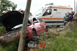 Accident în Mănășturel. Impact între un autoturism și un microbuz – FOTO/VIDEO