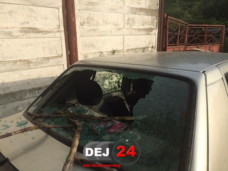 Autoturism avariat copac cazut Dej