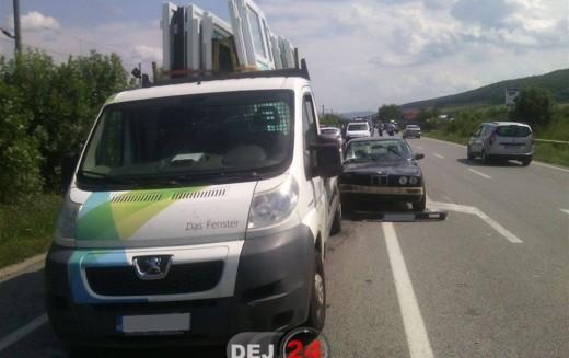 ACCIDENT cu trei mașini implicate, la intrare în Dej – FOTO