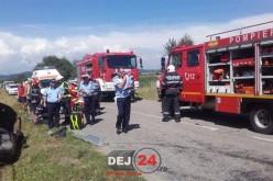 ACCIDENT rutier cu ȘASE VICTIME, în apropiere de Beclean – FOTO
