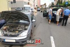 DEJ | ACCIDENT pe strada Crângului! Șoferul vinovat a părăsit locul accidentului – FOTO