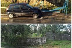 DEJ | Stație de autobuz, scoasă din uz de un accident rutier, nereparată de luni de zile – FOTO