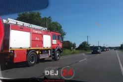 Incendiu în Fundătura. Au intervenit pompierii din Dej – FOTO