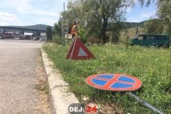 Primele măsuri luate de autoritățile din Dej în cazul intersecției buclucașe de la OMV – FOTO