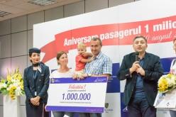 """Pasagerul cu numărul 1.000.000 al Aeroportului """"Avram Iancu"""" Cluj"""