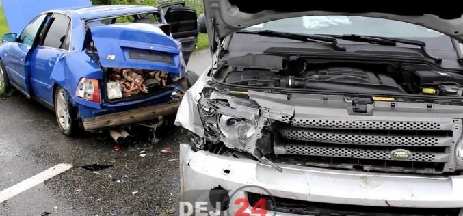 Accident în Bunești. Un AUDI scăpat de sub control a ajuns în parapet – FOTO/VIDEO