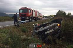 ACCIDENT pe DN1C, cu trei autovehicule implicate, în Coplean! O șoferiță a ajuns la spital – FOTO/VIDEO