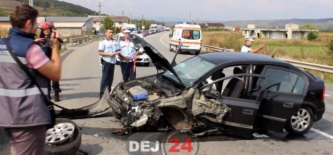 Accident pe DN1C, în Bunești. Trei persoane au ajuns la spital – VIDEO