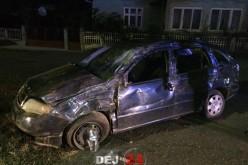 Accident în Câțcău. O mașină scăpată de sub control a ieșit în afara șoselei – FOTO/VIDEO