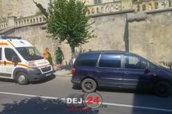 ACCIDENT RUTIER în centrul municipiului Dej – FOTO