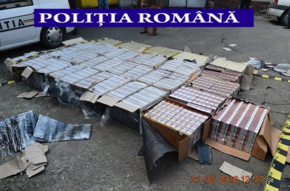 captura politisti Dej tigari tigarete contrabanda