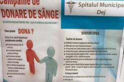 SALVEAZĂ ȘI TU VIEȚI! Campanie de donare de sânge, săptămâna viitoare, la Dej