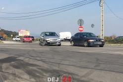 Dej – Încă un eveniment rutier în intersecția buclucașă de la OMV – FOTO