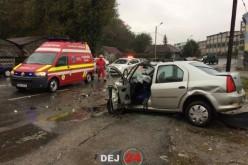 GRAV ACCIDENT în Dej! CINCI VICTIME au ajuns la spital – FOTO/VIDEO