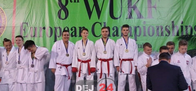 Sportiv din Dej, două MEDALII de AUR la Campionatul European de Karate WUKF
