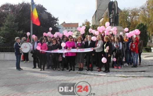 """Dej – Marșul """"Octombrie Roz"""" pentru prevenirea cancerului la sân – FOTO"""