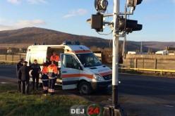 ACCIDENT FEROVIAR la Jucu! Autobasculantă izbită în plin de tren