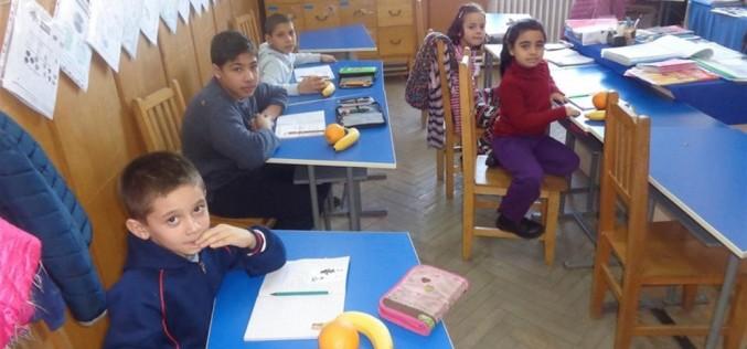 """Elevi de la Liceul Teoretic """"Alexandru Papiu Ilarian"""" din Dej, donație de fructe copiilor și bătrânilor – FOTO"""