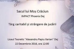 Târg caritabil, astăzi, la LAPI Dej! Fondurile strânse vor fi donate Yasminei Fluieraș