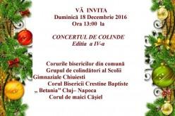 Concert de colinde, la Căminul Cultural din Chiuiești!