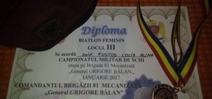 """Militari din Dej, pe podiumul Campionatului Militar de Schi, Etapa pe Brigada 81 Mecanizată """"General GRIGORE BĂLAN"""" – FOTO"""