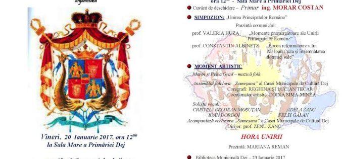 Unirea Principatelor Române va fi sărbătorită vineri la Dej