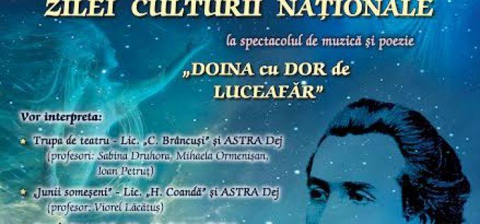Spectacol dedicat Zilei Culturii Naționale, la Cercul Militar Dej