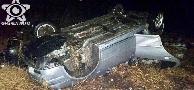 ACCIDENT MORTAL lângă Iclod! S-au răsturnat cu mașina pe câmp – FOTO