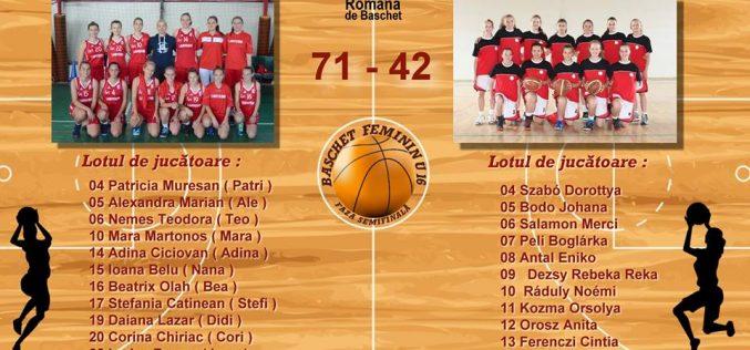 BASCHET feminin U16: LAPI Dej s-a impus în fața formației CSM VSK Csikszered Miercurea Ciuc, scor 71-42