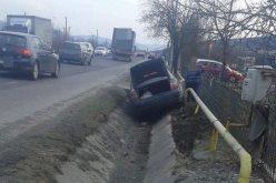 Accident la ieșire din Dej spre Gherla! Patru mașini au fost avariate – FOTO